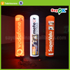 advertising inflatable column with LED lighting inflatable tube for sale