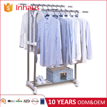 free sample accepted factory price balcony telescopic double rail metal cloth dryer stand