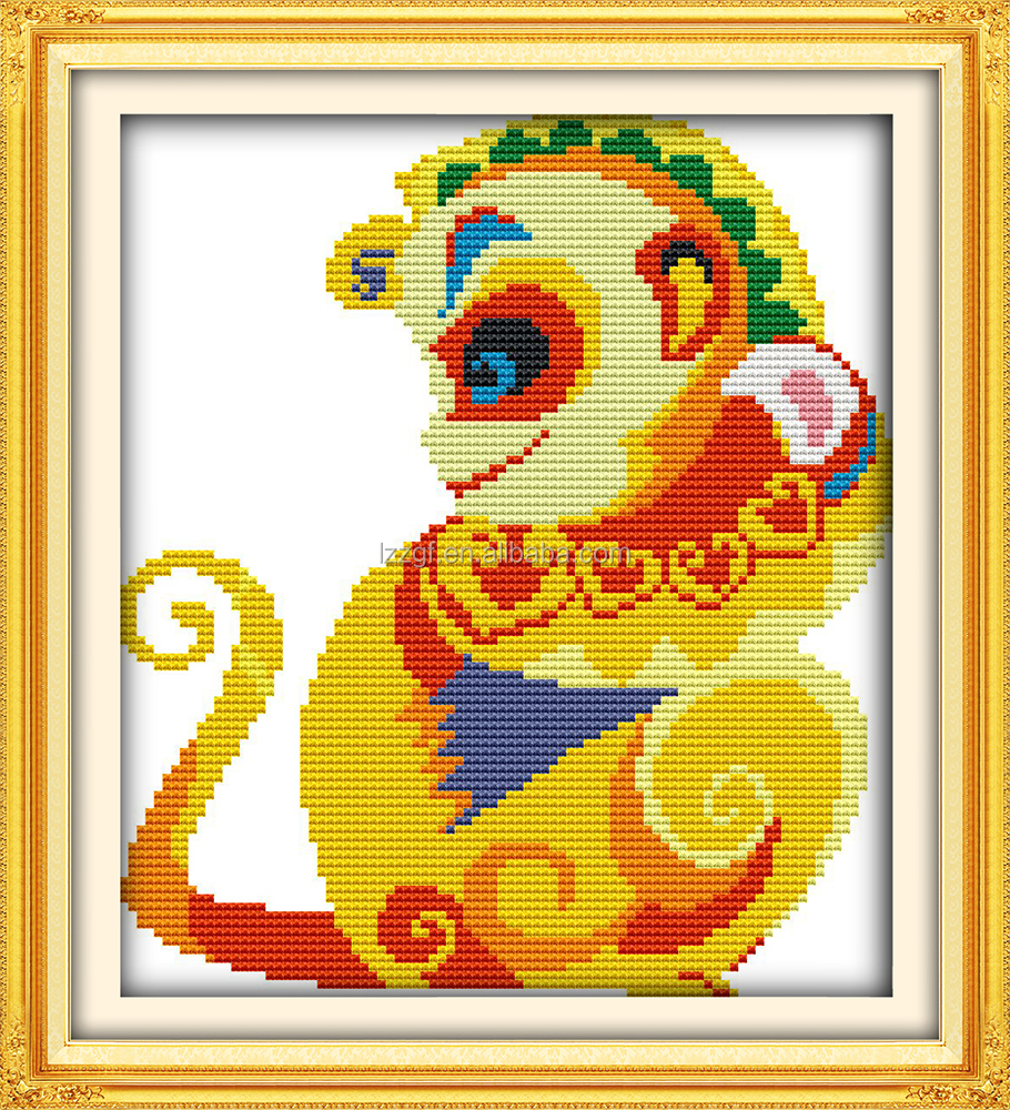 Golden <strong>monkey</strong> baby cross stitch patterns <strong>embroidery</strong> design free needlepoint stores C551