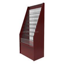 Multilayer magazine display shelf metal newspaper display rack post office exhibition stand