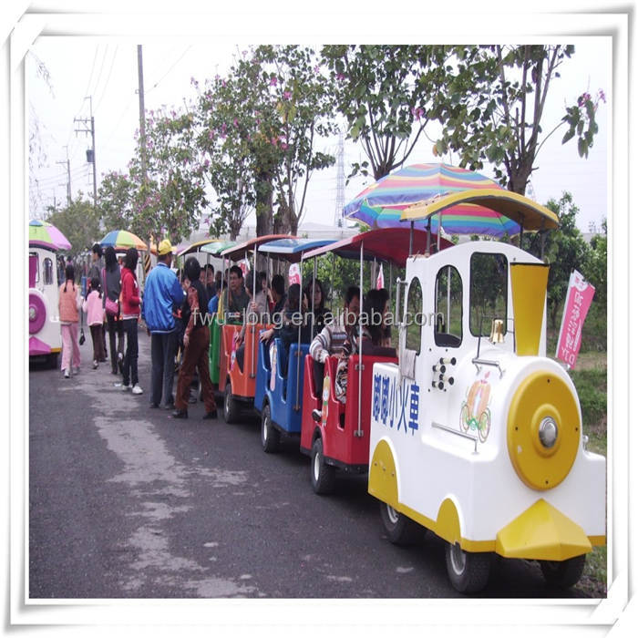 Hot selling family entertainment center kids fun rides electric road train,india holiday packages