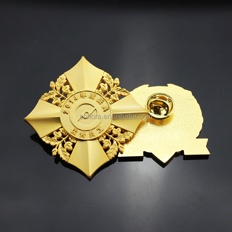 Manufactory wholesales custom metal badges/brooches/insignias/lapel pins with various color