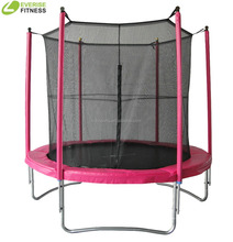 6FT Pink Round Trampoline With Enclosure for Child
