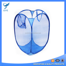 Blue Polyester Pop-up Laundry Hamper