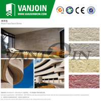 Light Weight Durable Rock Face Sand Stone Wall Cladding Tile