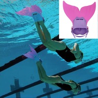 Cute Kid Children Swimming Fins Mermaid Swim Fin Swimming Foot Flipper Training Shoes Tail Diving Feet Tail Monofin