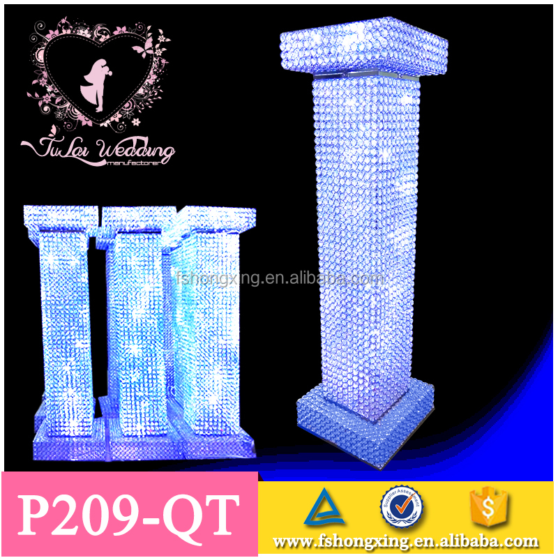 Hotsale Wedding decorating Roman mandaps,High quality crystal wedding mandap with LED light for wedding events