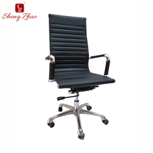 High back black pu leather office chair