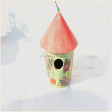 customized small hanging manufacturer decorated eco-friendly wooden bird house