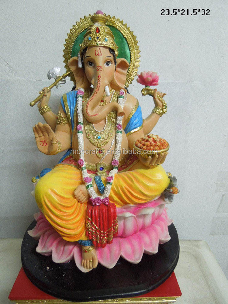 #0514- Polyresin India god statue and hindu god decoration
