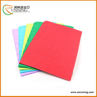 colorful crepe paper wax paper