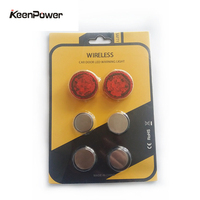 4pcs/lot Car-styling Car door Warning Light Open Signal Flashing Light Wireless Magnetic Sensor Led Door Light