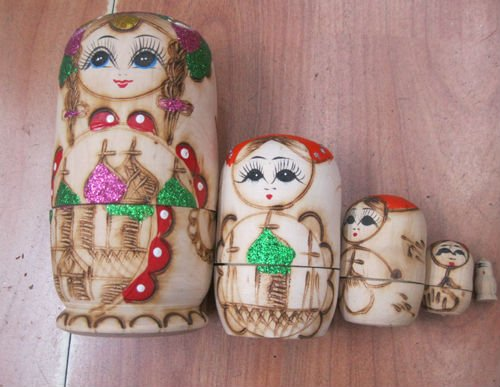 wood russian nesting dolls matryoshka
