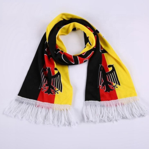 new products hot selling custom design good quality ball fans football fan scarf