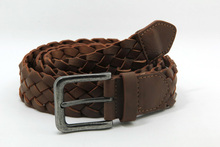New Fashion Men's Cheap fake leather braided belt
