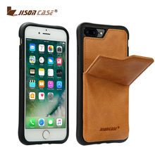 China Mobile Phone Accessories Genuine Leather with Card Slots for iPhone 7 Cellphone Case