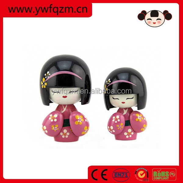 Wholesale Fancy Wood Kokeshi Lucky Doll