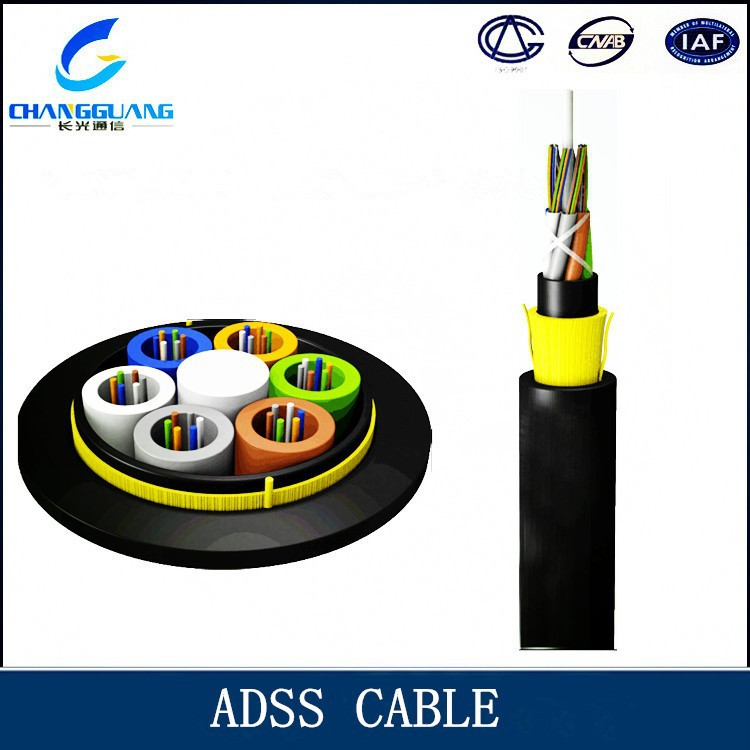 Communication PE Outdoor ADSS Double Sheath Fiber Optic Cable