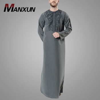 Modern Arab Mens Fashion Clothing Hot Sell Cheap High Quality Dubai Style Muslim Robe Men Clothing