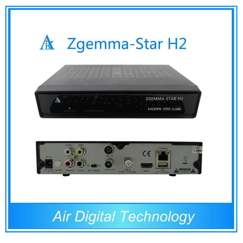 digital dvb-s2 and dvb-T2/c combo receiver mini hd box receiver hdtv linux enigma 2, ZGEMMA STAR H2