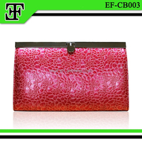 2015 Wholesale fashion ladies magazine leather clutch wallet evening clutch bag purse