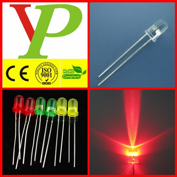5mm white green yellow red round led