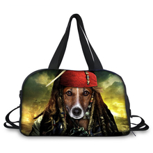 2017 Stylish Sublimation 3D Effect DOG MEN Print Canvas Travel Duffel Bag For Sport or Gym