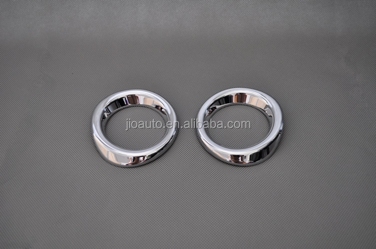 Car accessories ABS Chrome car front fog light cover trim for Mazda2 Demio parts 2015