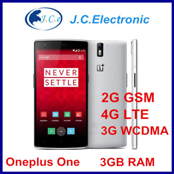 5.5'' OnePlus One Plus One 64GB 16GB 4G LTE Snapdragon 801 2.5Ghz Android 3GB RAM mobile phone 13.0MP 3G WCDMA NFC