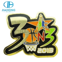 Jiahong metal letter logo badge