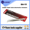 QA-15 Professional On Anti-Magnetic Anti-Acid Not-Corrosive Tweezers Stainless Curved Tip Tweezers