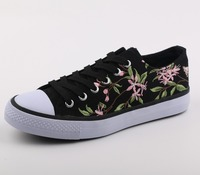 Canvas Embroidery Upper Shoe Women Shoes