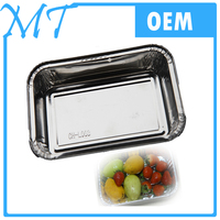 Aluminum Material and Food Use aluminium foil packaging food container with lid/cover