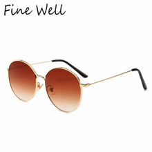 2019 Yi Wu  Fashion Hot Selling Metal Logo For Round Sunglasses
