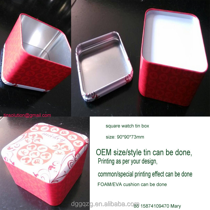 cheap watch storage tin box