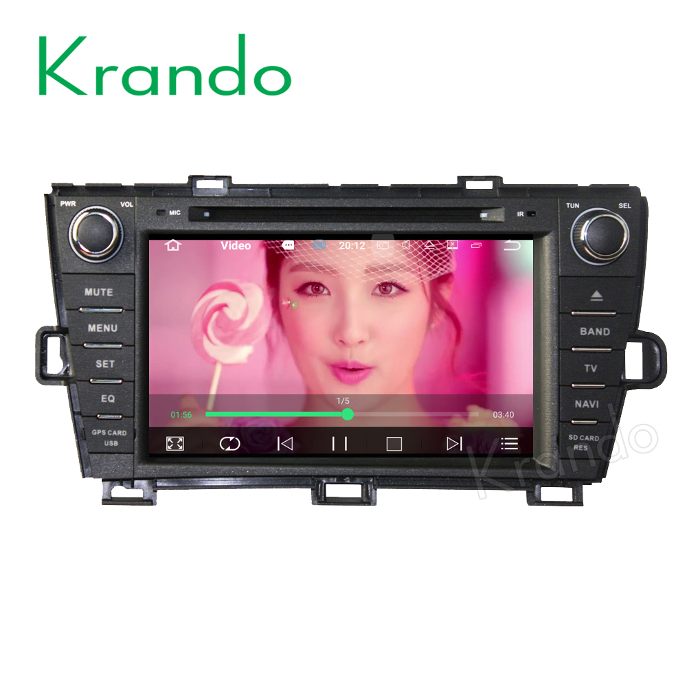 "Krando Android 6.0 8"" car dvd player navigation for toyota prius 2009-2015 RHD radio gps multimedia system 2G RAM KD-TP809R"