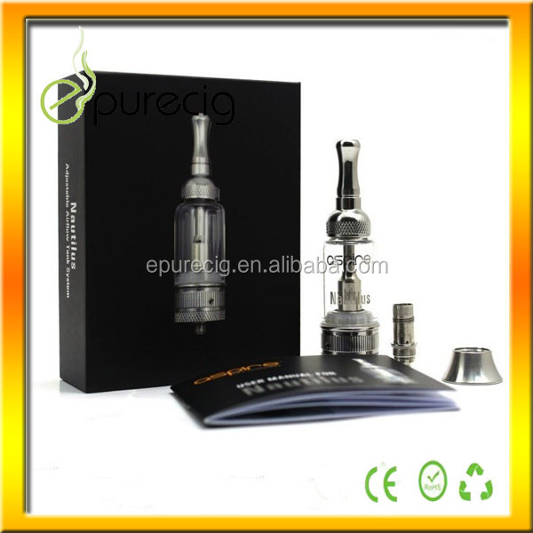 Top selling 2014 100% original aspire nautilus bdc clearomizer fresh choice electric cigarette machine