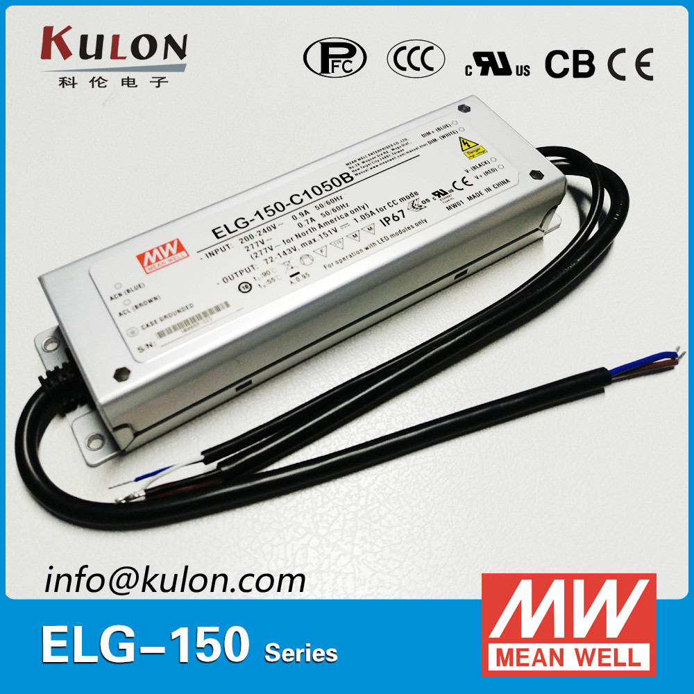 Original MEAN WELL 150W dimmable led driver ac/dc output waterproof ELG-75-36