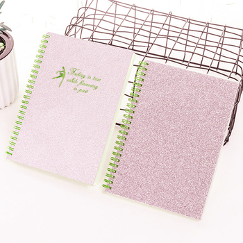 2019 New Wholesale Sequins Shiny Glitter Cover A5 Spiral notebook