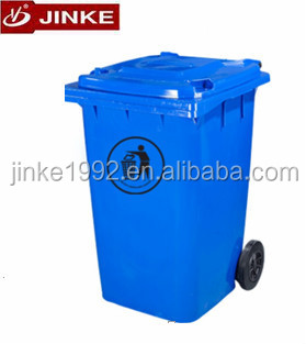 Plasic Waste Trash Can, Wheel Litter Bin 120 Liter With Wheels