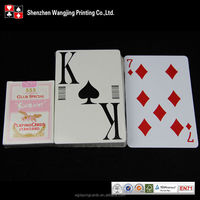Jumbo Index Plastic Playing Cards,Poker Cards,Clear Plastic Box Package