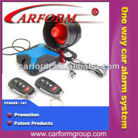 anti theft one way auto car alarm system with universal remote control key