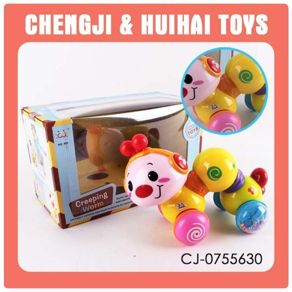2014 New cartoon battery operated plastic caterpillar toy