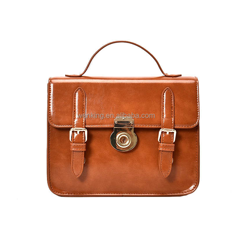 OEM/ODM Vintage Patent Lady's Handbag With long Strap from Guangzhou Leather Messenger Bag Wholesale Shoulder Bags