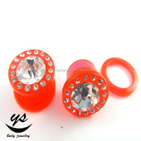 Buy Red acrylic ear tunnel plug in China on Alibaba.com