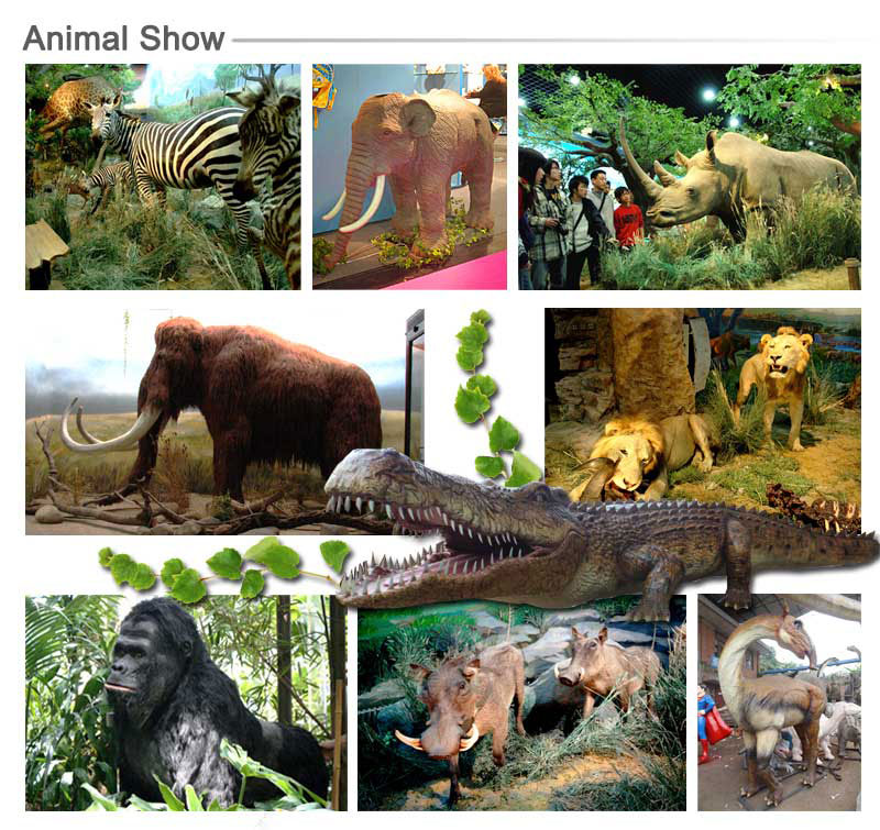 Animated Prehistoric Animal Model for Park Decoration