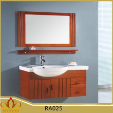 Mirrored Classic Type and Antique Style bathroom vanity cabinets ceramic basin RA025