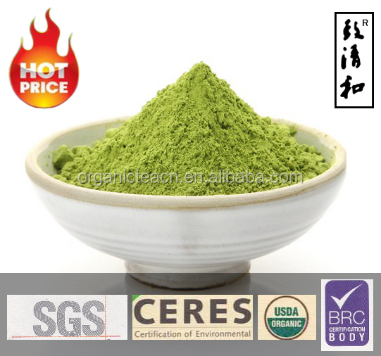 Green tea powder product of Chinese instant drink for cake ice-cream