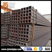 lowest price square hollow section,q235 rectangular steel pipe,black raw square tube