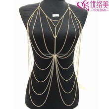 Sexy Vibrating Body Jewelry Non-allergenc Body Chain Jewelry YMBD1-309
